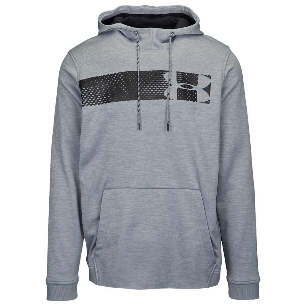 アンダーアーマー Under Armour メンズ フィットネス・トレーニング パーカー トップス【Armour Fleece Graphic Logo P/O Hoodie】Steel Black