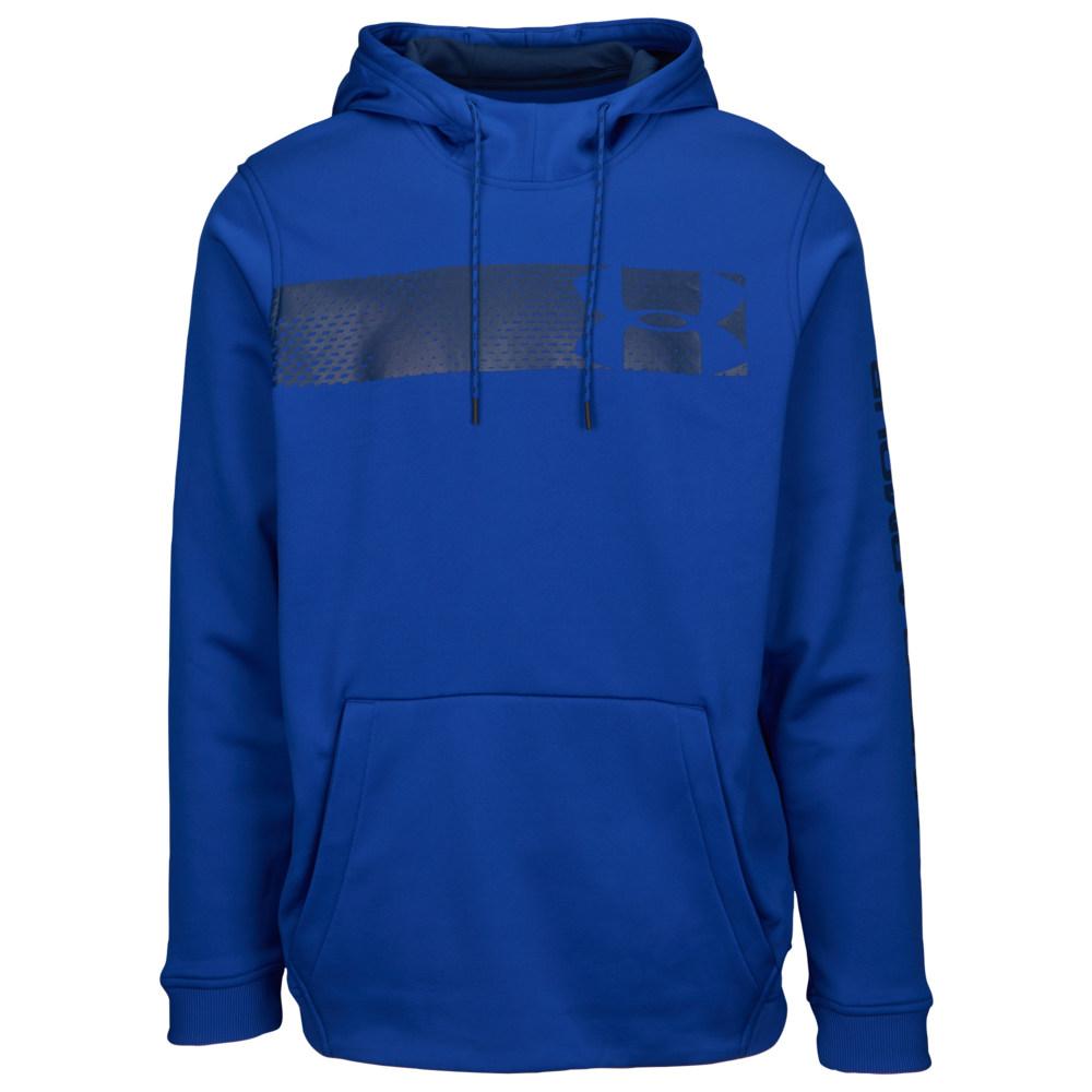 アンダーアーマー Under Armour メンズ フィットネス・トレーニング パーカー トップス【Armour Fleece Graphic Logo P/O Hoodie】Royal/Mod Grey