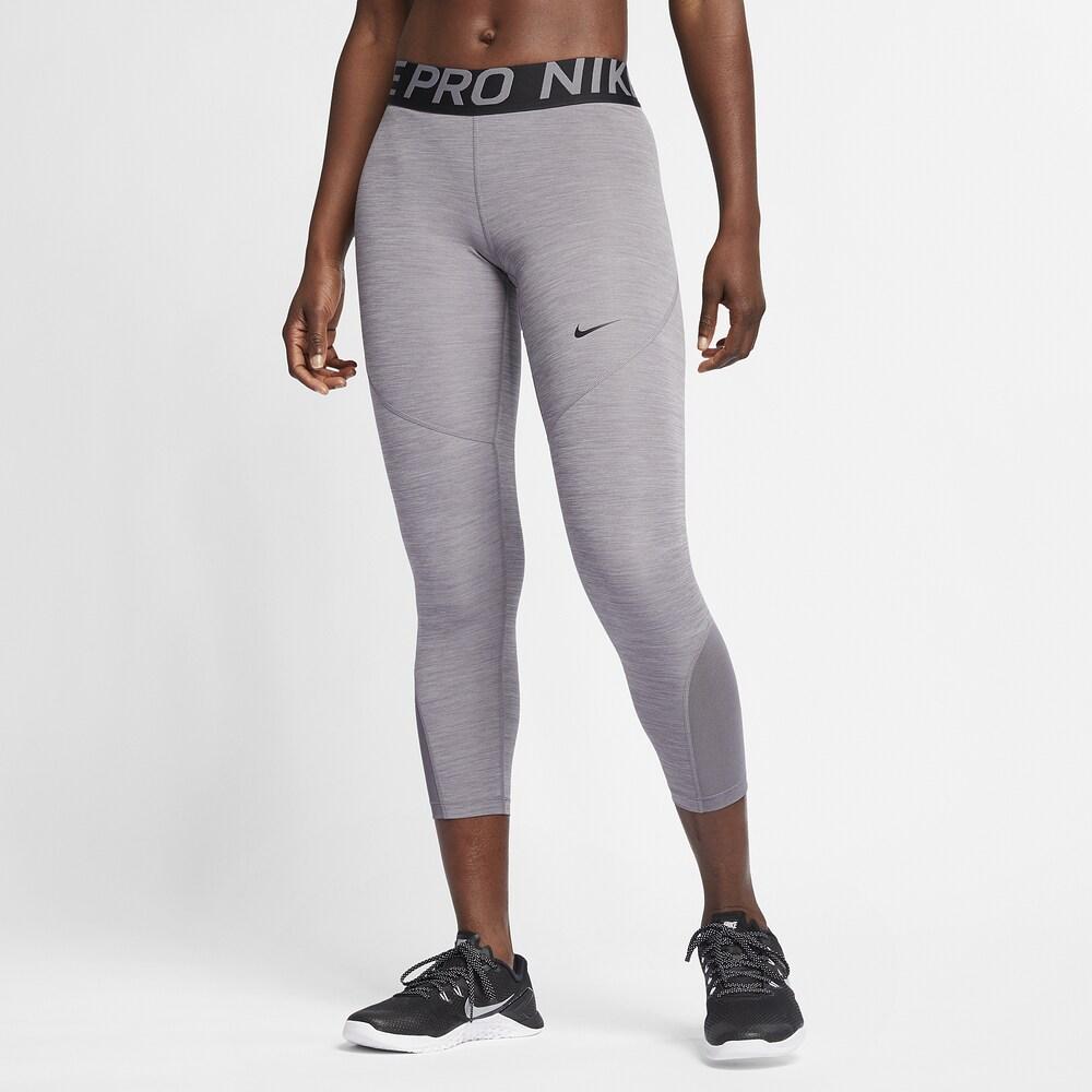 ナイキ Nike レディース フィットネス・トレーニング タイツ・スパッツ スパッツ・レギンス ボトムス・パンツ【Pro Crop Tights】Gunsmoke Heather