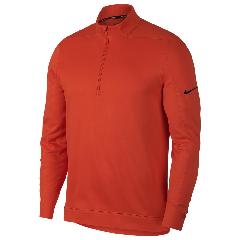 ナイキ Nike メンズ ゴルフ ハーフジップ トップス【Therma Repel 1/2 Zip Golf Top】Team オレンジ/黒
