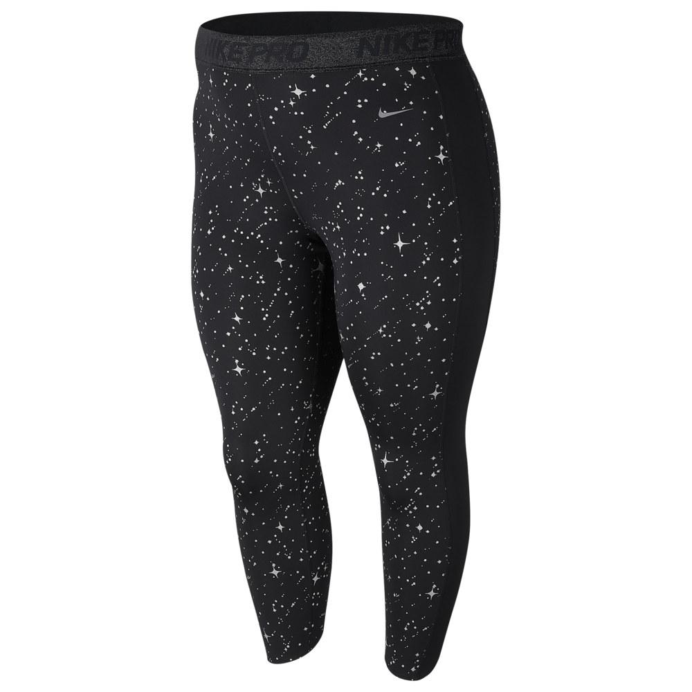 ナイキ Nike レディース フィットネス・トレーニング 大きいサイズ タイツ・スパッツ スパッツ・レギンス ボトムス・パンツ【Pro Plus Size Starry Night Metallic Tights】
