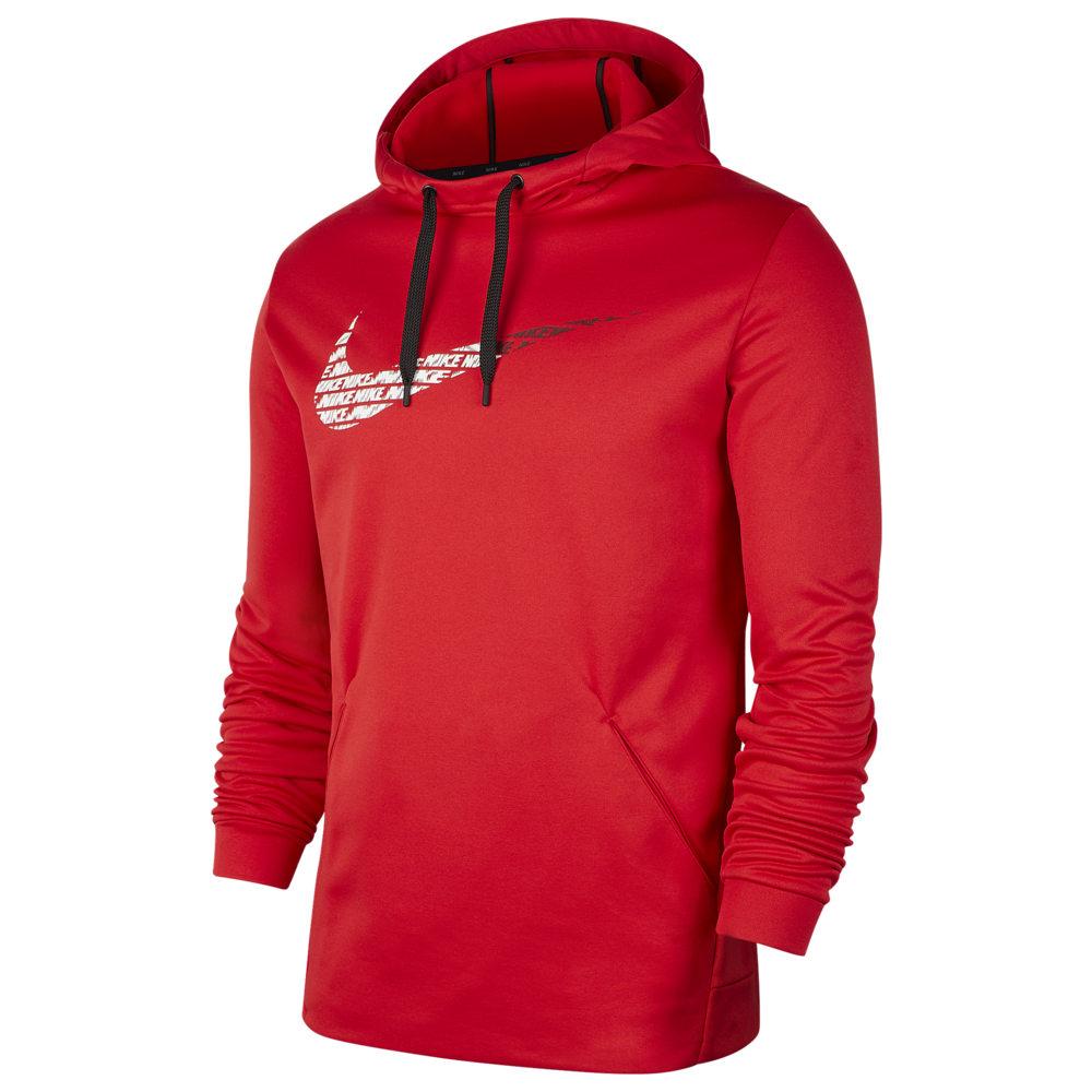 ナイキ Nike メンズ フィットネス・トレーニング パーカー トップス【Therma Fleece Graphic Swoosh Hoodie】University Red