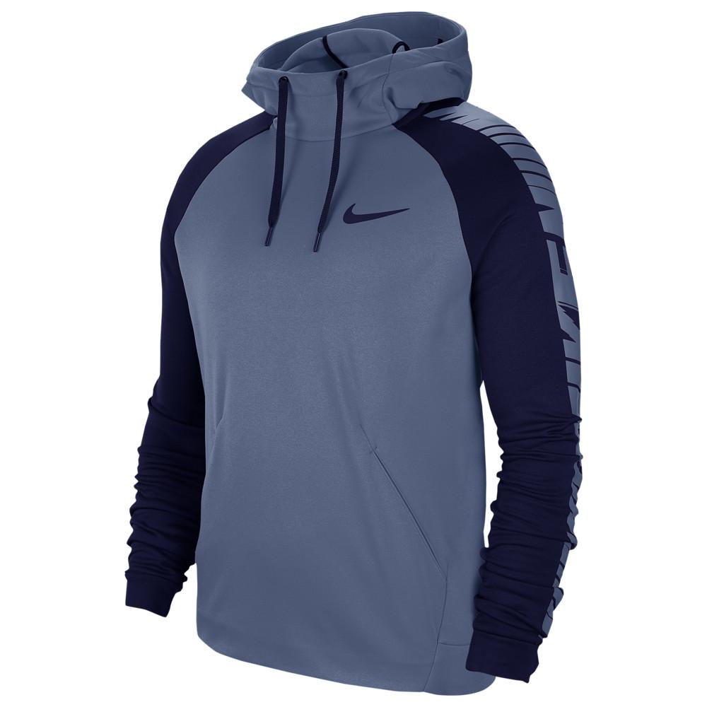 ナイキ Nike メンズ フィットネス・トレーニング パーカー トップス【Therma Fleece Sleeve Graphic Hoodie】Ocean Fog/Blue Void