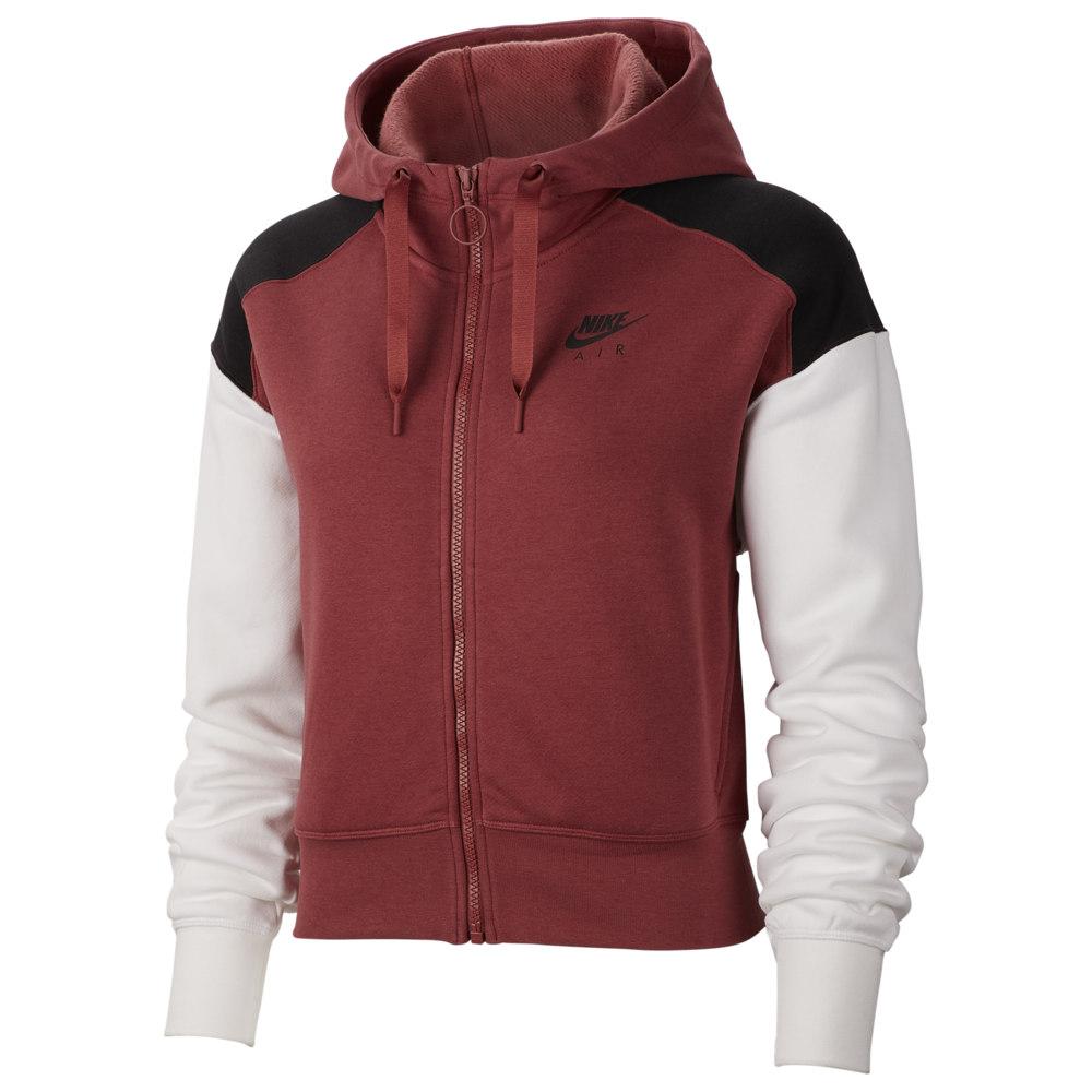 ナイキ Nike レディース フリース トップス【Air Fleece Full-Zip Hoodie】Cedar/Black/White