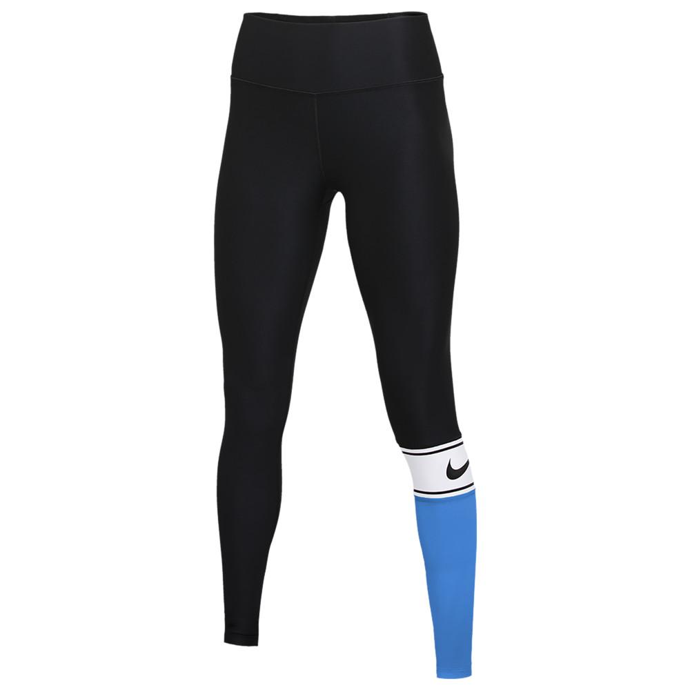 ナイキ Nike レディース フィットネス・トレーニング タイツ・スパッツ スパッツ・レギンス ボトムス・パンツ【Team Authentic Colorblock Power Tights】Black/White/Valor Blue/Black