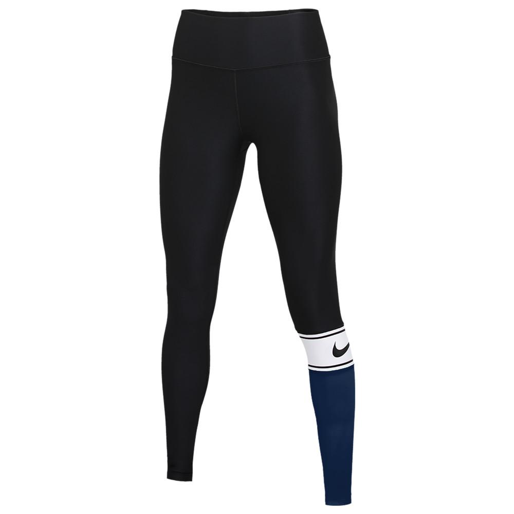 ナイキ Nike レディース フィットネス・トレーニング タイツ・スパッツ スパッツ・レギンス ボトムス・パンツ【Team Authentic Colorblock Power Tights】College Navy/White/Dark Grey/Black