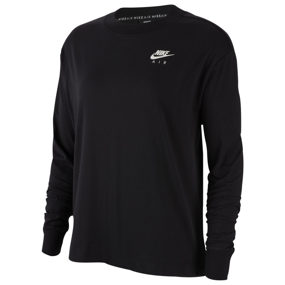 ナイキ Nike レディース 長袖Tシャツ トップス【Air Top Long Sleeve】Black