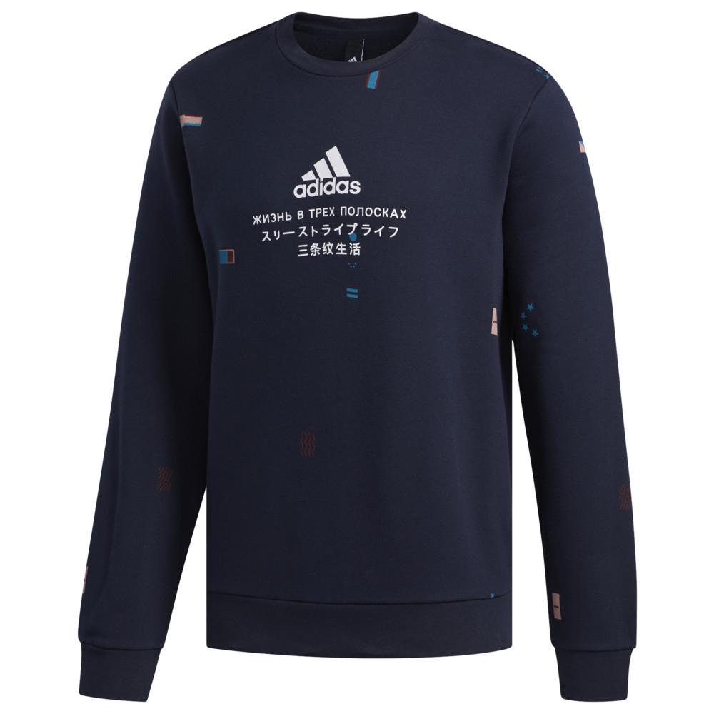 アディダス adidas Athletics メンズ フリース トップス【Gloabal Citizen Fleece Crew】Legend Ink