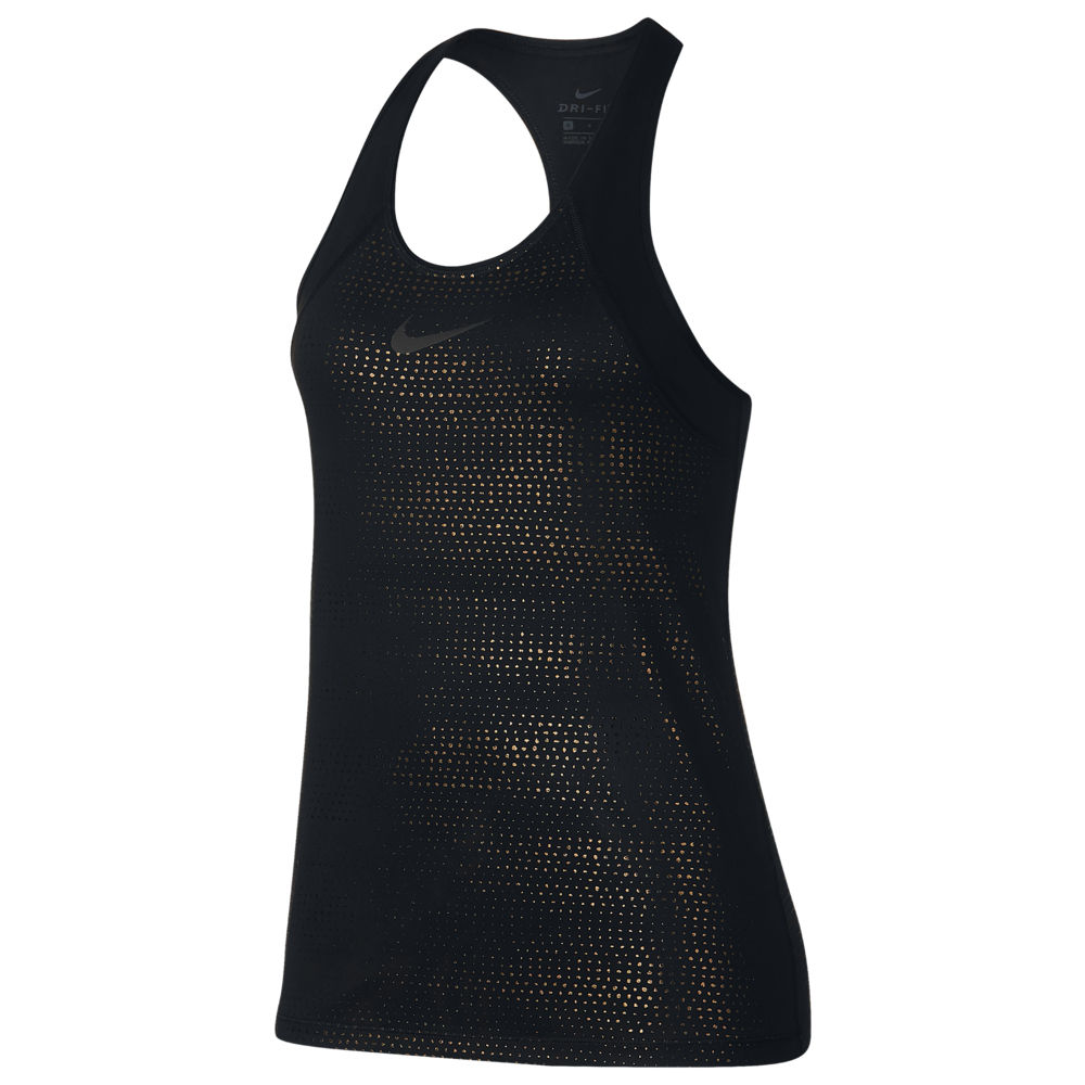 ナイキ Nike レディース フィットネス・トレーニング タンクトップ トップス【Pro Metallic Dot Tank】Black