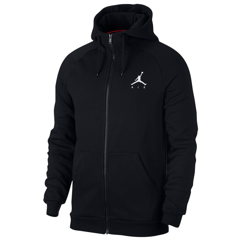ナイキ ジョーダン Jordan メンズ バスケットボール ジャンプマン パーカー トップス【Jumpman Air Fleece Full-Zip Hoodie】Black/White
