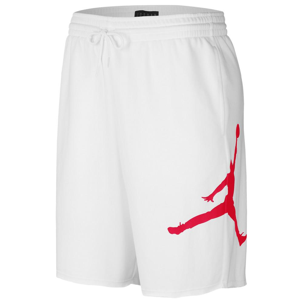 ナイキ ジョーダン Jordan メンズ バスケットボール ジャンプマン ショートパンツ ボトムス・パンツ【Jumpman Fleece Shorts】White/Infrared