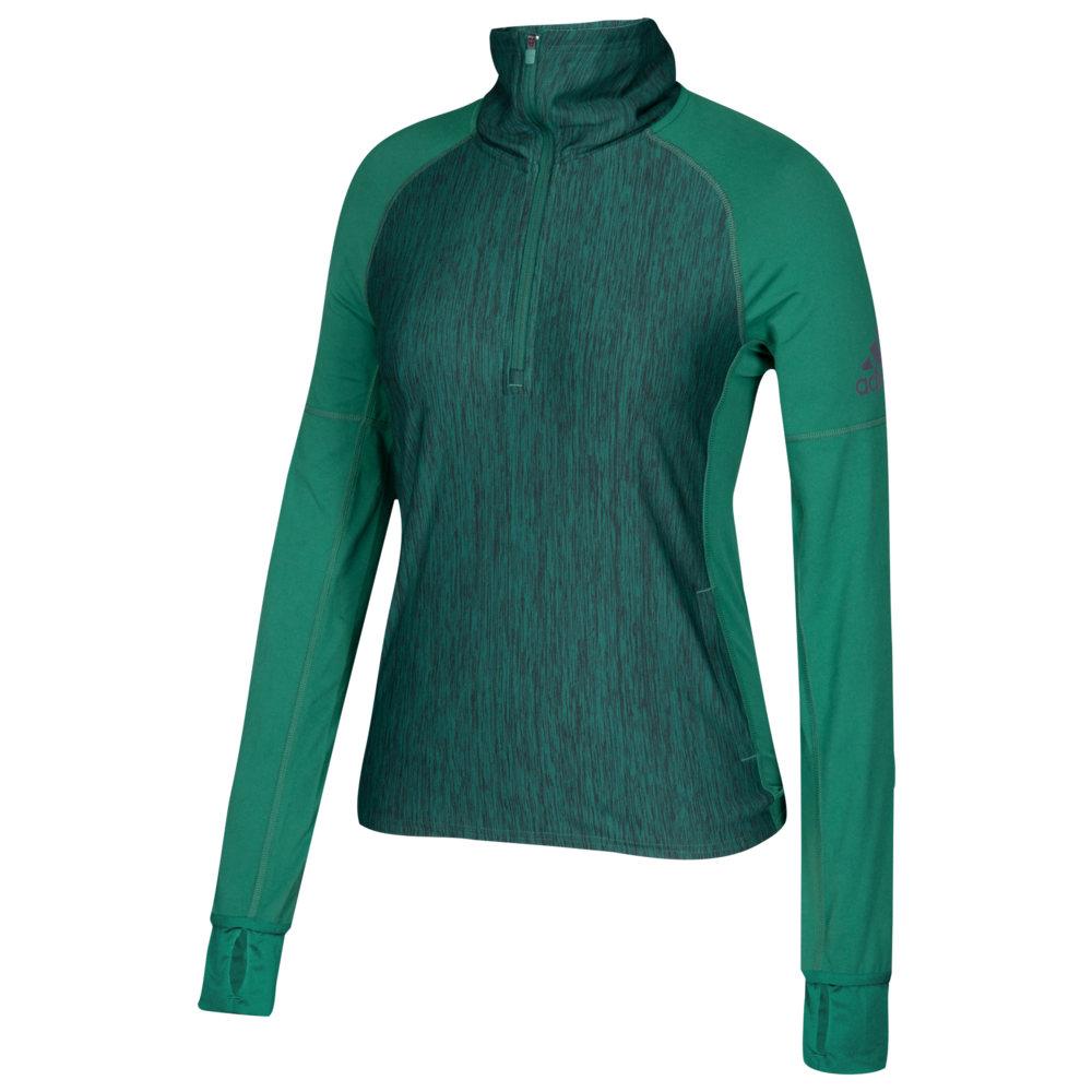 アディダス adidas レディース フィットネス・トレーニング トップス【Team Performer Baseline 1/4 Zip】Dark Green Heather
