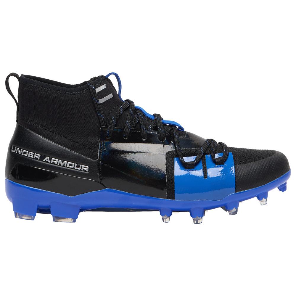 アンダーアーマー Under Armour メンズ アメリカンフットボール シューズ・靴【C1N MC】Black/Royal CAM NEWTON