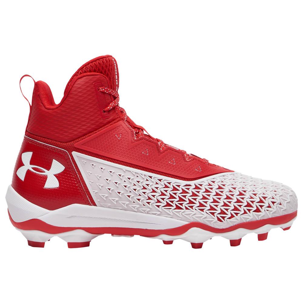 アンダーアーマー Under Armour メンズ アメリカンフットボール シューズ・靴【Hammer MC】Red/White