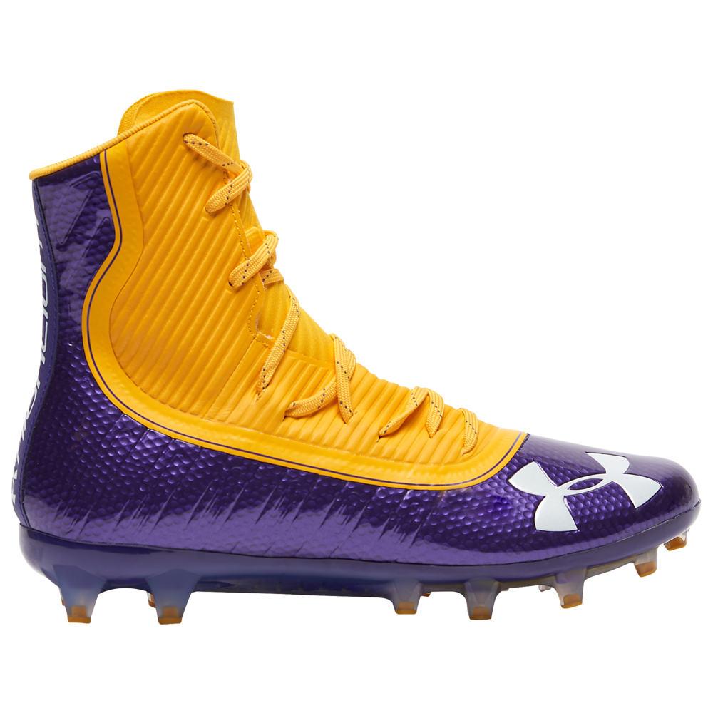 アンダーアーマー Under Armour メンズ アメリカンフットボール シューズ・靴【Highlight MC】Purple/Steeltown Gold