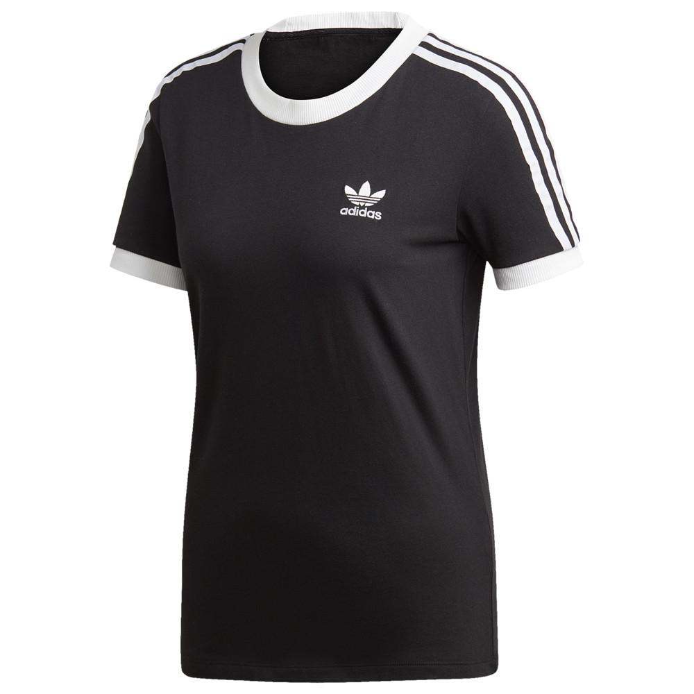 アディダス adidas Originals レディース Tシャツ トップス【Adicolor 3 Stripe T-Shirt】Black
