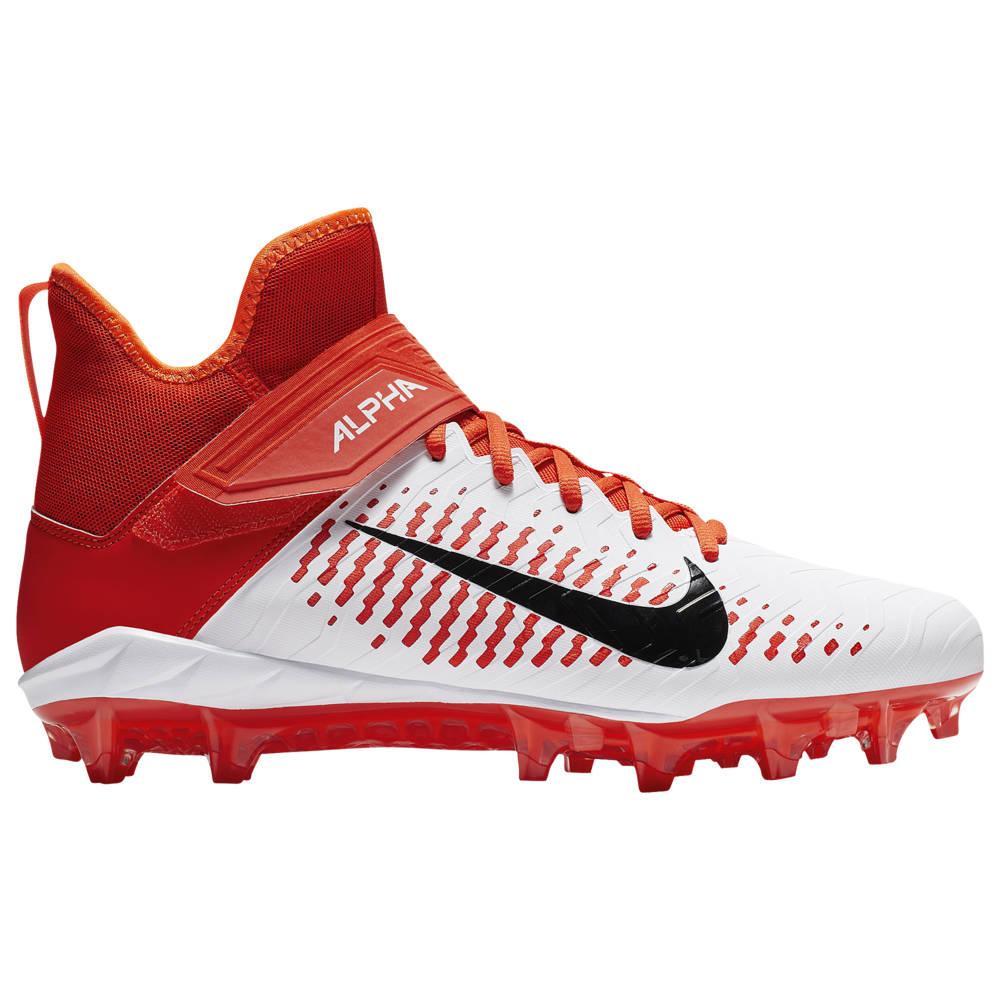 ナイキ Nike メンズ アメリカンフットボール シューズ・靴【Alpha Menace Pro 2 MID】White/Black/Team Orange