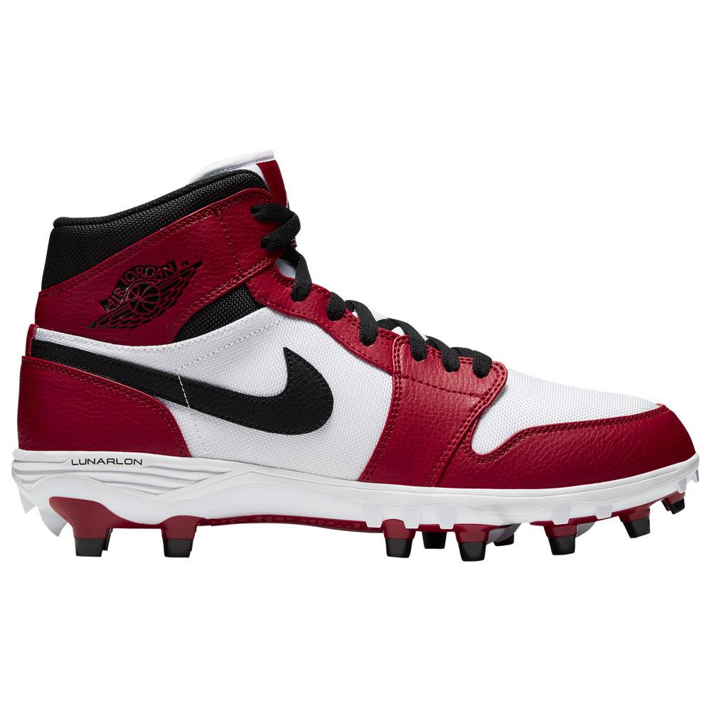 ナイキ ジョーダン Jordan メンズ アメリカンフットボール シューズ・靴【Retro 1 TD MID】White/Black/Varsity Red