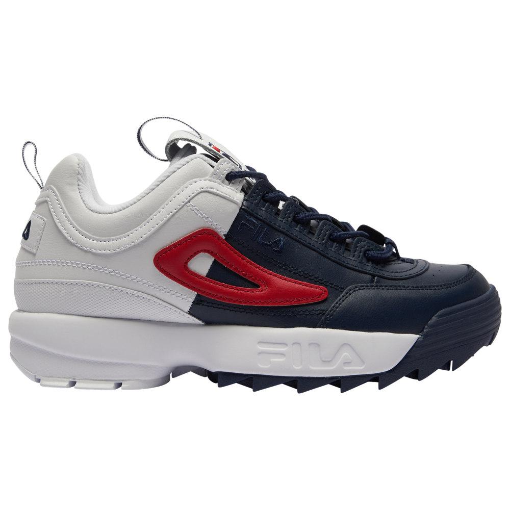 フィラ Fila メンズ フィットネス・トレーニング シューズ・靴【Disruptor II】White/Navy/Red Split