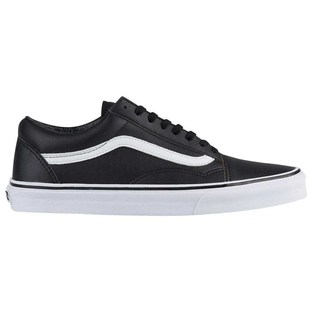 ヴァンズ Vans メンズ スケートボード シューズ・靴【Old Skool】Black/True White Tumbled Leather
