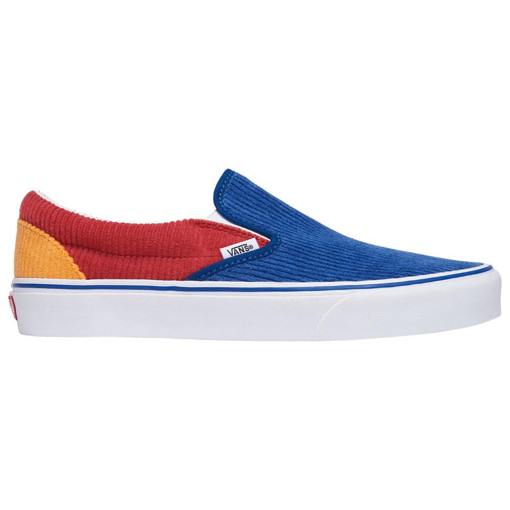 ヴァンズ Vans メンズ スケートボード スリッポン シューズ・靴【Classic Slip On】Blue/Red/Orange Corduroy