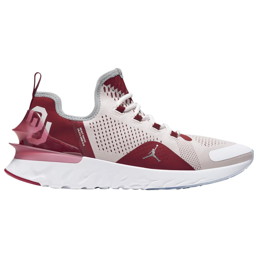 ナイキ ジョーダン Jordan メンズ フィットネス・トレーニング シューズ・靴【React Havoc】NCAA Oklahoma Sooners White/Metallic Silver/Team Crimson