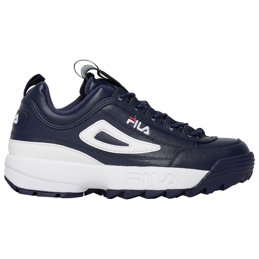 フィラ Fila メンズ フィットネス・トレーニング シューズ・靴【Disruptor II】Navy/Red/White Premium