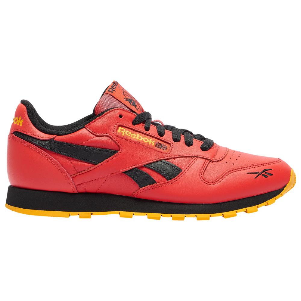リーボック Reebok メンズ ランニング・ウォーキング シューズ・靴【Classic Leather】Radiant Red/Black/Fierce Gold