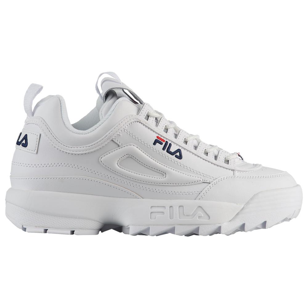 フィラ Fila メンズ フィットネス・トレーニング シューズ・靴【Disruptor II】White/Navy/Red Premium