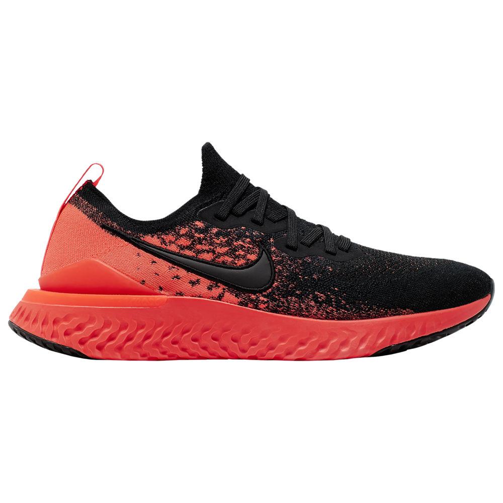 ナイキ Nike メンズ ランニング・ウォーキング シューズ・靴【Epic React Flyknit 2】Black/Black/Bright Crimson/Infrared