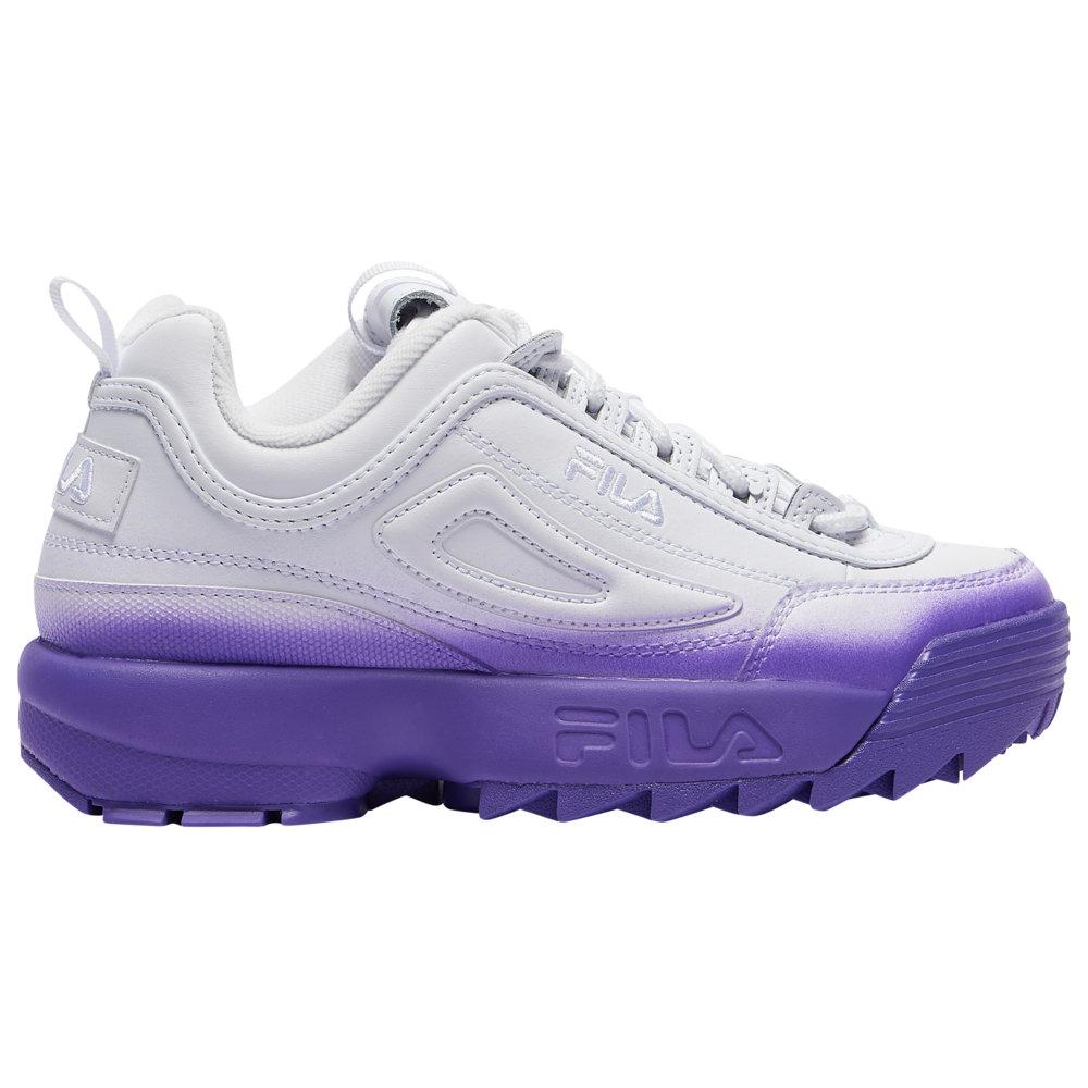 フィラ Fila レディース フィットネス・トレーニング シューズ・靴【Disruptor II Brights Fade】White/White/Electric Purple