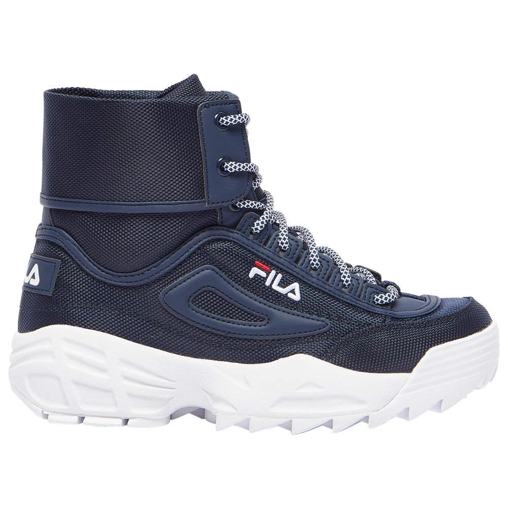 フィラ Fila レディース ブーツ シューズ・靴【Disruptor Ballistic Boot】Navy/Red/White