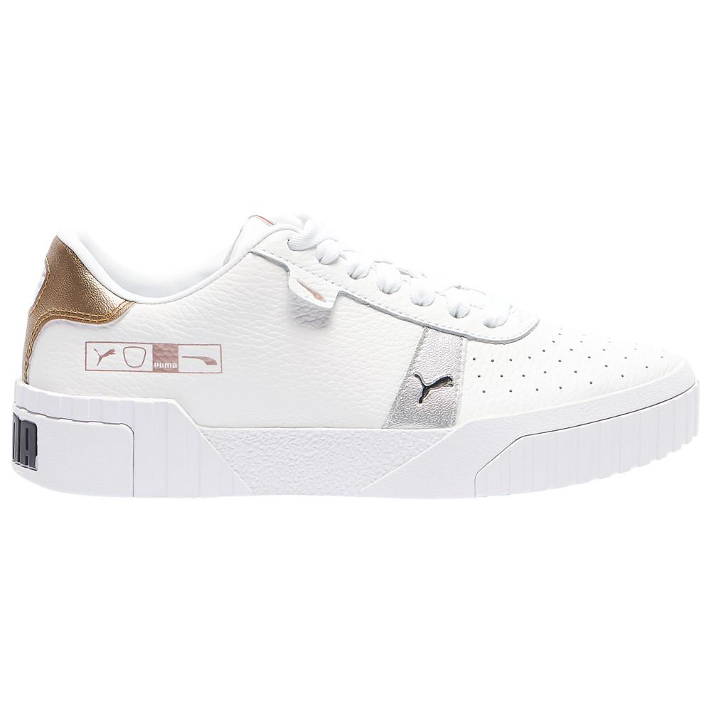 プーマ レディース テニス シューズ・靴 White/Silver 【サイズ交換無料】 プーマ PUMA レディース テニス シューズ・靴【Cali Hacked】White/Silver