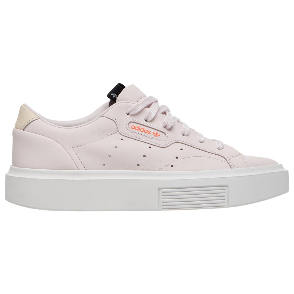 アディダス adidas Originals レディース スニーカー シューズ・靴【Sleek Super DN】White/White/Orchid Tint