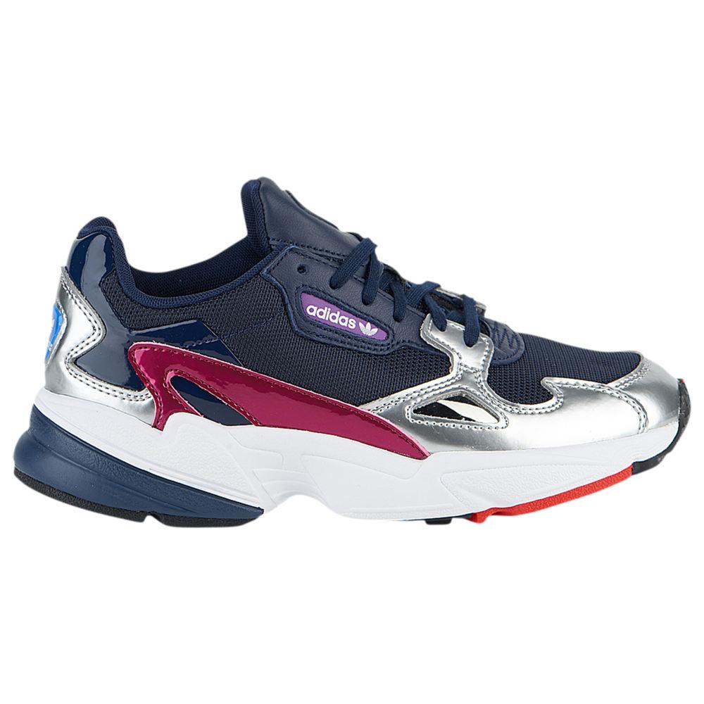 アディダス adidas Originals レディース ランニング・ウォーキング シューズ・靴【Falcon】Collegiate Navy/Collegiate Navy/Silver Metallic