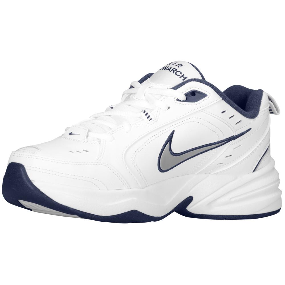 ナイキ Nike メンズ フィットネス・トレーニング シューズ・靴【Air Monarch IV】White/Midnight Navy/Metallic Silver