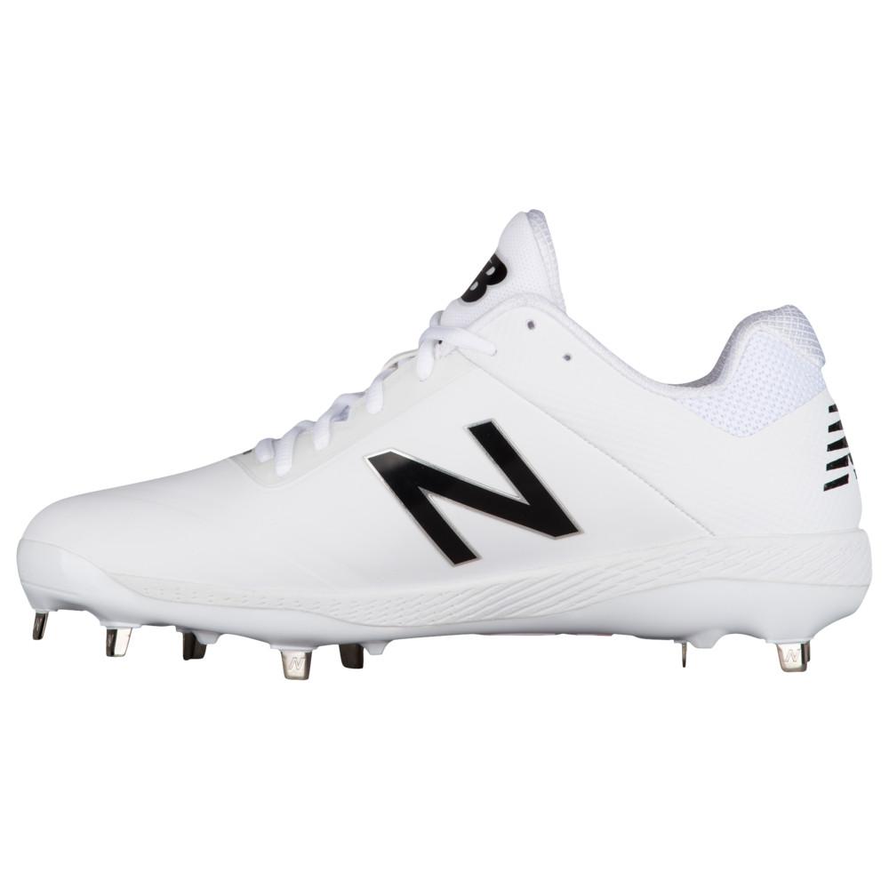 ニューバランス New Balance メンズ 野球 シューズ・靴【4040V4 Metal Low】White/White Synthetic