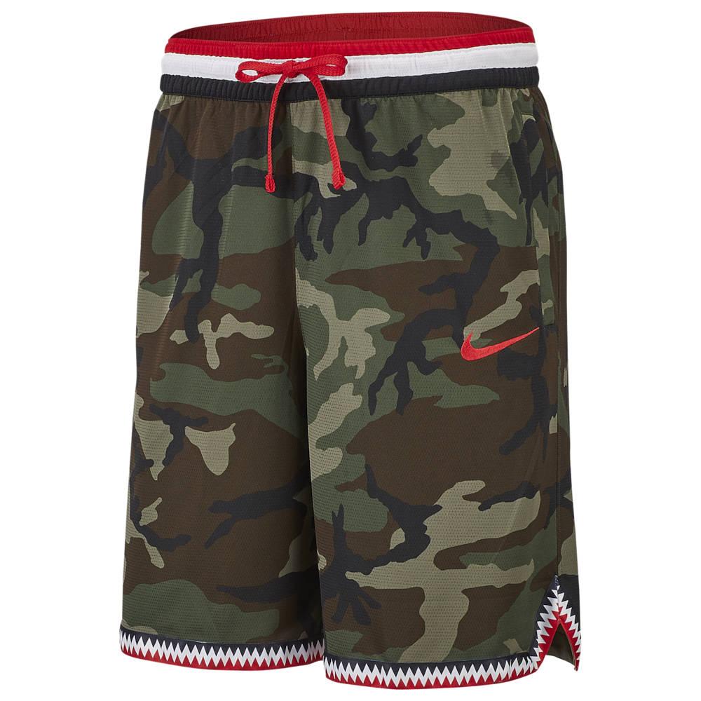 ナイキ Nike メンズ バスケットボール ショートパンツ ボトムス・パンツ【DNA Camo Shorts】Medium Olive/University Red
