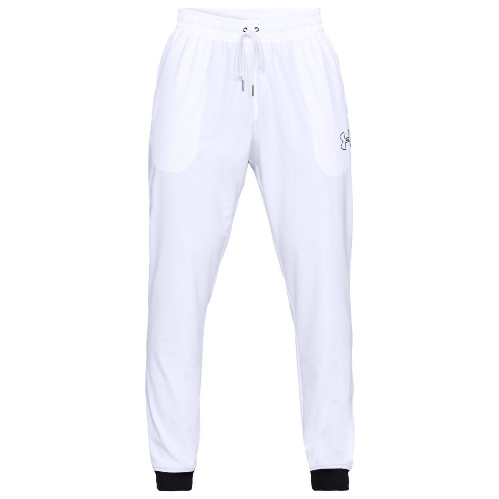 アンダーアーマー Under Armour メンズ バスケットボール ジョガーパンツ ボトムス・パンツ【Baseline Woven Jogger】White/Black
