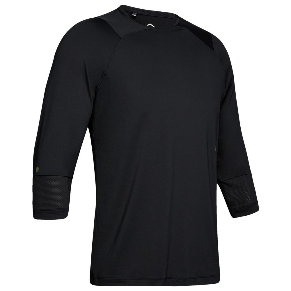 アンダーアーマー Under Armour メンズ フィットネス・トレーニング 七分袖 トップス【Rush Compression 3/4 Sleeve Top】Black/Black