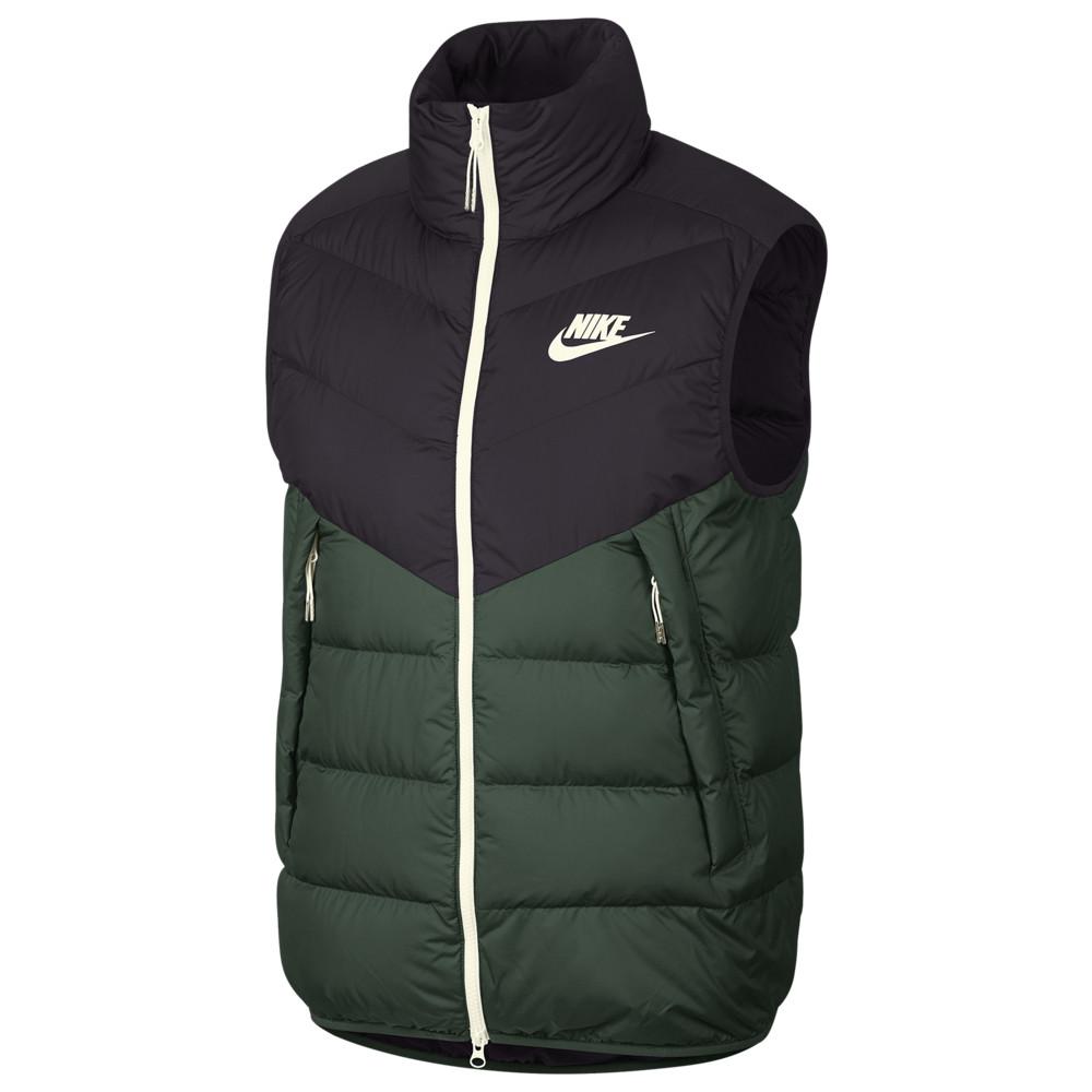 ナイキ Nike メンズ ベスト・ジレ ダウンベスト トップス【Down Fill Windrunner Vest】Off Noir/Galactic Jade/Sail