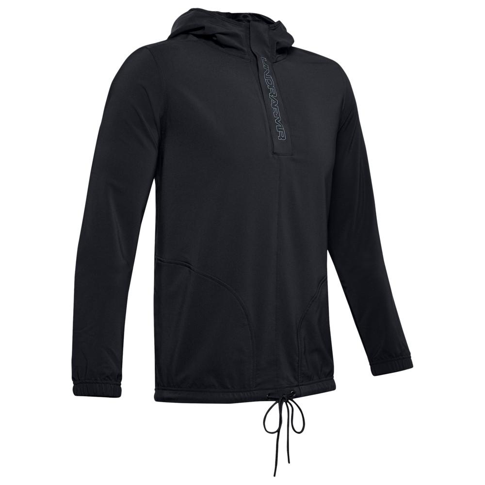 アンダーアーマー Under Armour メンズ バスケットボール ジャケット アウター【Baseline Woven Jacket】Black/Wire
