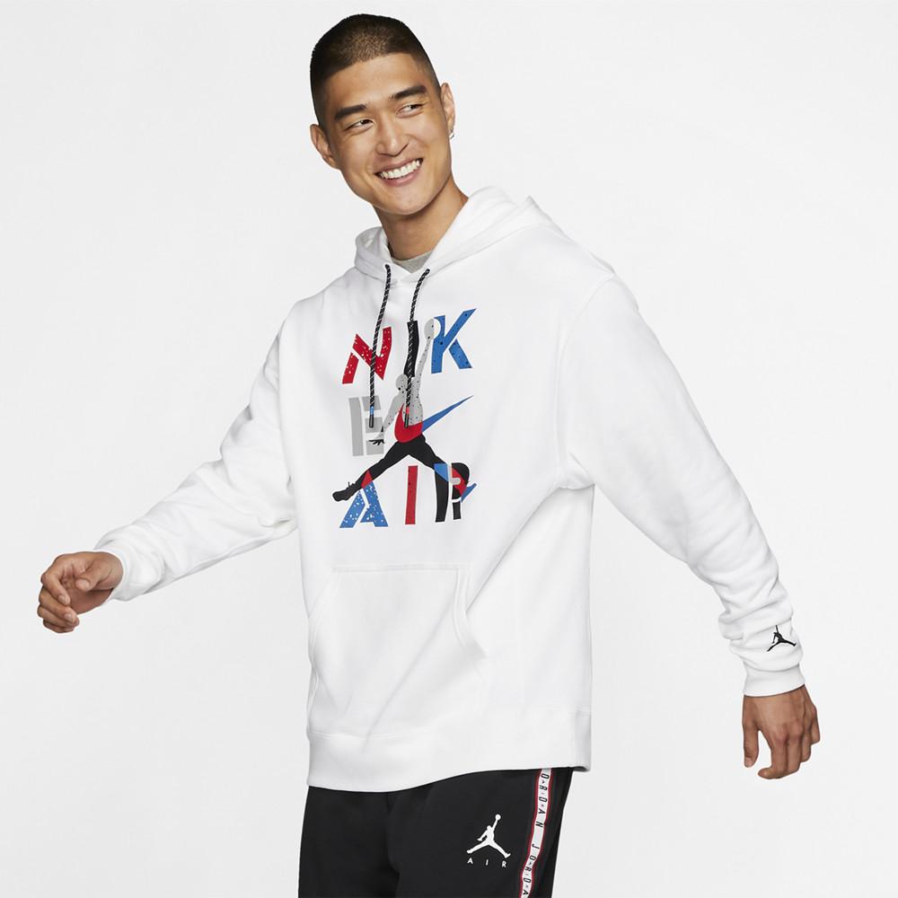ナイキ ジョーダン Jordan メンズ バスケットボール パーカー トップス【Retro 4 Hoodie】White/Black