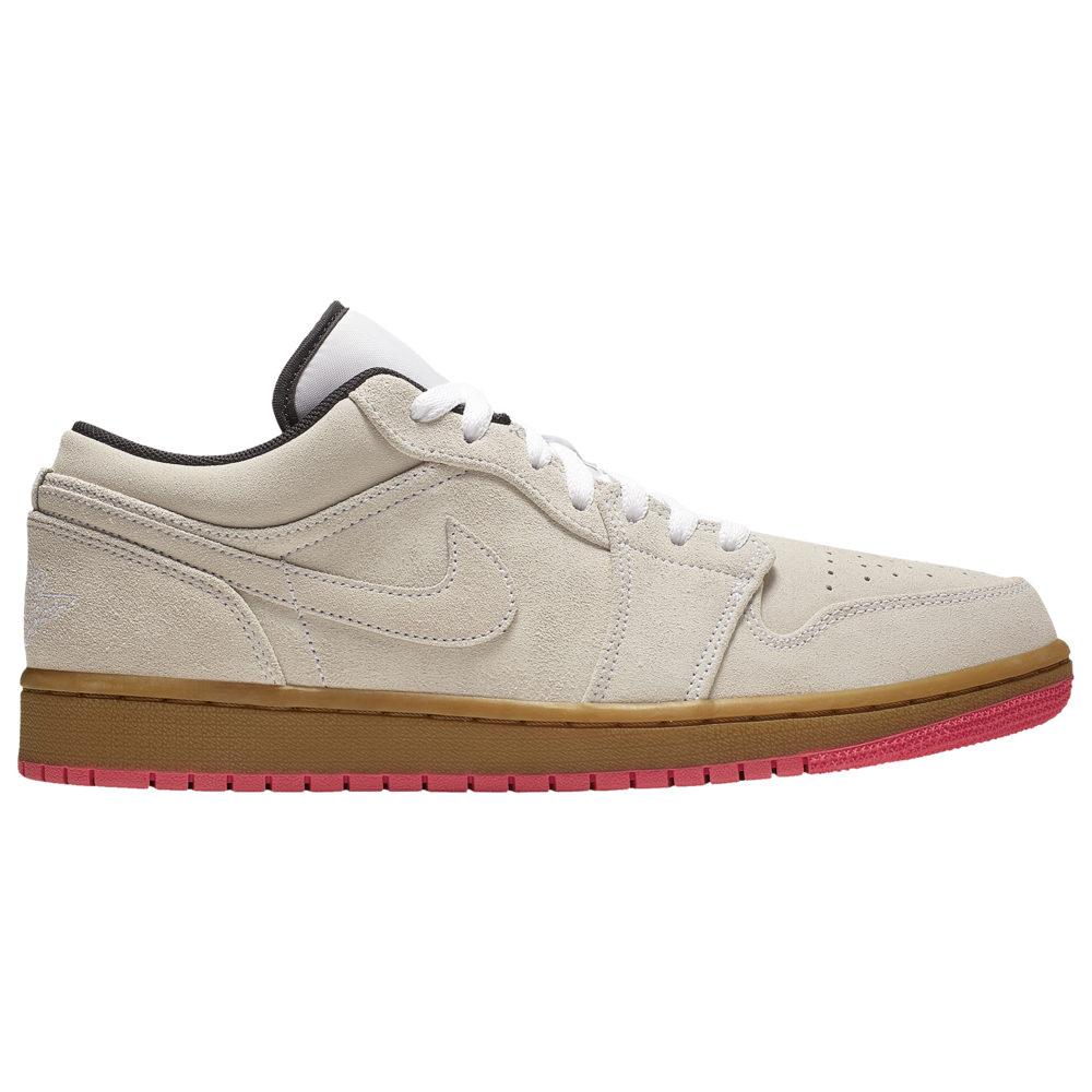 ナイキ ジョーダン Jordan メンズ バスケットボール シューズ・靴【AJ 1 Low】White/Gum Yellow/Hyper Pink
