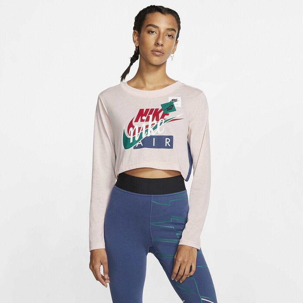 ナイキ Nike レディース ベアトップ・チューブトップ・クロップド トップス【AF1 Long Sleeve Crop T-Shirt】Echo Pink