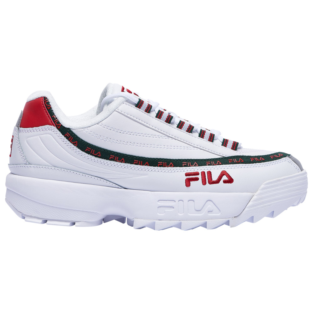 フィラ Fila メンズ フィットネス・トレーニング シューズ・靴【Dragster 97 X Disruptor II】White/Sycamore/Red