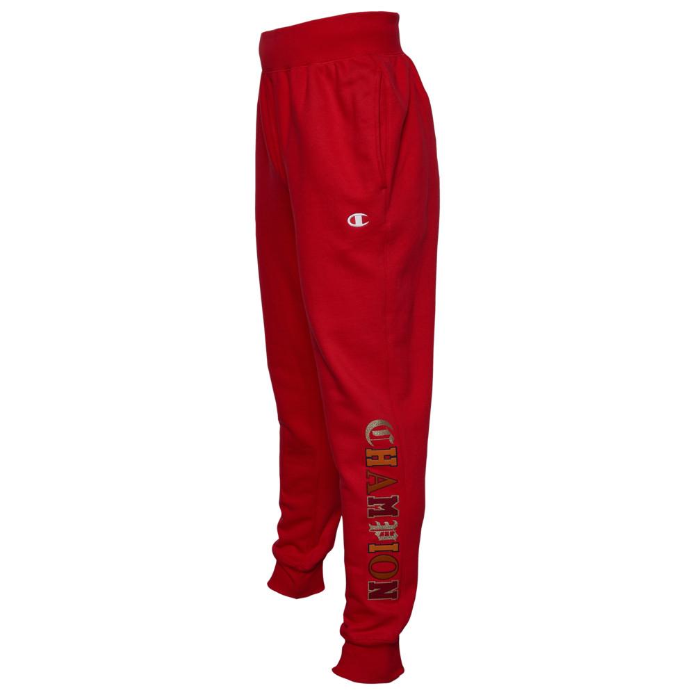 チャンピオン Champion メンズ ジョガーパンツ ボトムス・パンツ【Reverse Weave Jogger Old English】Team Red Scarlet