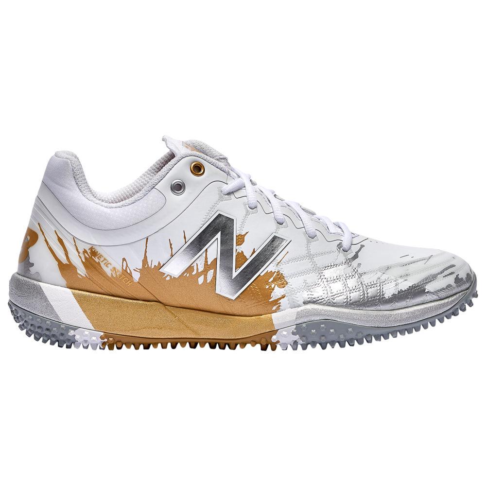 ニューバランス New Balance メンズ 野球 シューズ・靴【4040v5 Turf Playoff Pack】Silver/Gold