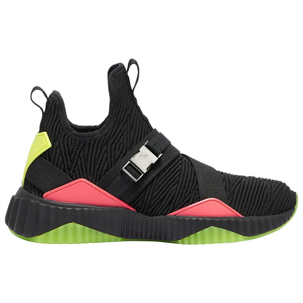 プーマ PUMA レディース フィットネス・トレーニング シューズ・靴【Defy Mid Buckle】Black/Pink Alert/Yellow Alert/White