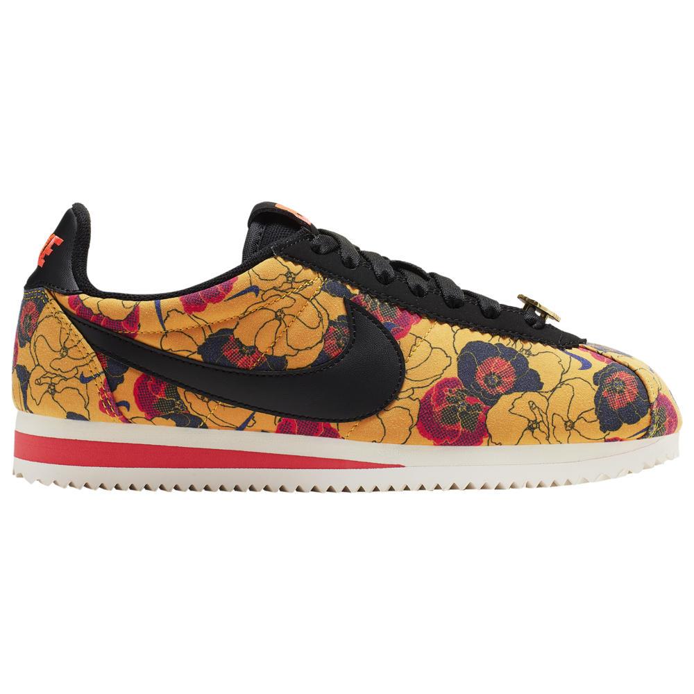 ナイキ Nike レディース ランニング・ウォーキング シューズ・靴【Classic Cortez LX】University Gold/Black/Bright Crimson Marche Botanical
